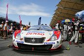 SEPANG - JUNE 10: The Denso Kobelco SC430 car of Lexus Team SARD waits on the starting grid on race