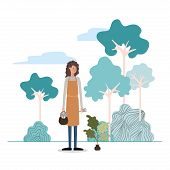 Gardener Woman Design, Working Occupation Person Job Corporate Employee And Service Theme Vector Ill poster