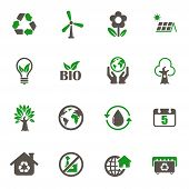 World Environment Day Icons. Set Of 16 High Quality World Environment Day Vector Icons In Two Color  poster