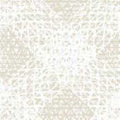 Beige And White Shibori Seamless Pattern. Tie Dye Abstract Texture. Organic Minimal Grid. Batik Tie  poster