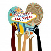 I love Las Vegas heart with hands