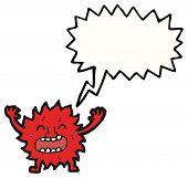 furry little monster cartoon poster