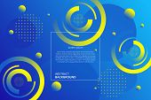 Abstract Modern Gradient Circles Geometric Pattern Background.  It Is Suitable For Various Types Of  poster