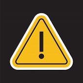 Danger Or Hazard Yellow Symbol. Danger Alert. poster