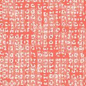 Crimson And Beige Tie Dye Seamless Pattern.  Shibori Seamless Print. Watercolor Hand Drawn Batik.  H poster