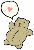 teddy bear with love heart cartoon