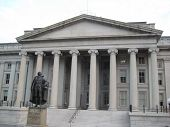 stock photo of treasury  - The US Treasury Department in Washington DC - JPG