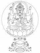 picture of tantric  - Raga Vidyaraja is a famous God of Love in Japan - JPG
