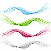 Set Abstract Wave Pattern.vector Wave. Transparent Wave Set. Color Wave. Smoke Wave. poster
