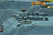 Slate quarry.