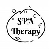Abstract Spa Therapy Logo Pictogram For Lifestyle Design. Wellness Business Template. Beauty Salon I poster