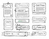 Sketchy web set doodle