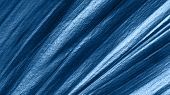 Extreme Close Up View Of Tropical Leaf Toned In Fashion Blue Color 2020. Copy Space For Text Or Desi poster