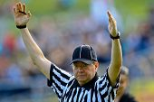 VIENNA, AUSTRIA - JUNE 12 The referee signals a touchdown on June 12, 2011 in Vienna, Austria. The V
