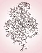 Abstract Henna Mendy Flower