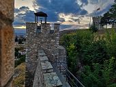 A View Of The Old Stone Hilltop Fortress In Skopje, North Macedonia. poster