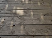 Untreated And Weathered Wooden Beams On A Very Old Veranda poster