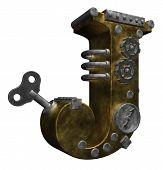 Steampunk Letter J