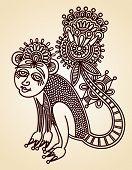 Animal Doodle Design Element