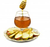 Honey and apple are symbols of Jewish New Year (Rosh hashana)