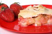 strawberry and rhubarb pie