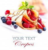 foto of crepes  - Crepes With Berries - JPG