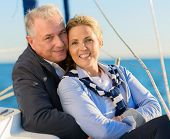Happy Mature Couple On Ship