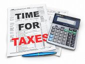 stock photo of cpa  - Time for taxes - JPG