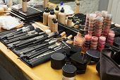 make-up cosmetics in dressing room