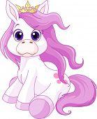 Ilustración de princesa lindo caballo