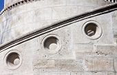 Detail of Fisherman Bastion on the Buda Castle hill in Budapest, Hungary