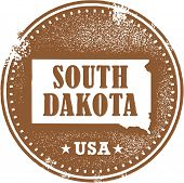 Selo vintage South Dakota EUA Estado