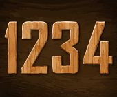 Alphabet made �?�¢??�?�¢??of wood. Vector illustration.