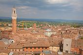 Panoramic view of the Sienna, Italy