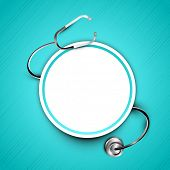 Stethoscope with text space, world health day concept.