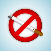 stock photo of anti-cancer  - Anti smoking background - JPG