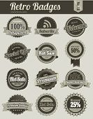 Retro badges - monochrome