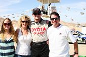LOS ANGELES - MAR 23:  Tyler Clary and family with the Scion FR-S at the 37th Annual Toyota Pro/Cele