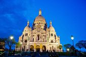 the sacre coeur in montmartre, paris. one of the landmarks of the city poster