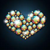 Coração de pedra preciosa - versão raster