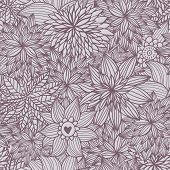 Floral seamless pattern. Vintage vector background made of flowers. Seamless pattern can be used for