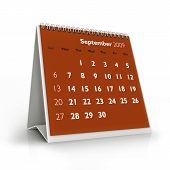 Calendário de 2009. Setembro