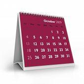 Calendário de 2009. Outubro
