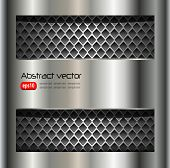 Abstract background metallic silver, vector.