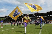 VIENNA, AUSTRIA - MAY 13: WR Valentin Schulz (#85 Vikings) runs on the football field on May 13, 201