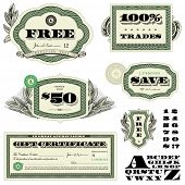 Vector Financial Frames and Ornaments. Easy to edit. All layers are separated.