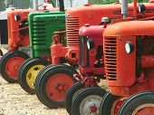 Tractors In A Row