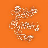 Floral decorated text Happy Mothers Day.