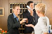 stock photo of receptionist  - Reception  - JPG