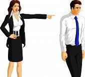 Businesswoman Firing A Worker